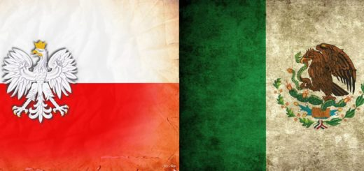 Flag Poland Mexico