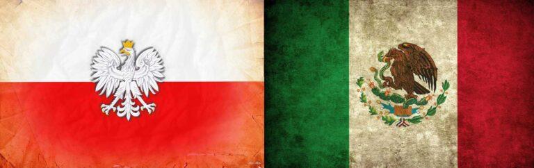 Flag Poland Mexico