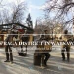 Praga district in warsaw background